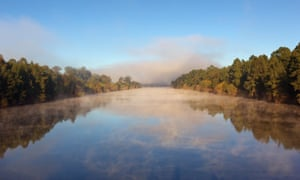Morning mist over the Hawkesbury river