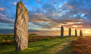 The Ring of Brodgar, a Unesco world heritage site.