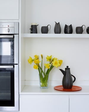 Some of the monochrome pottery Tibor Reich designed for Denby.