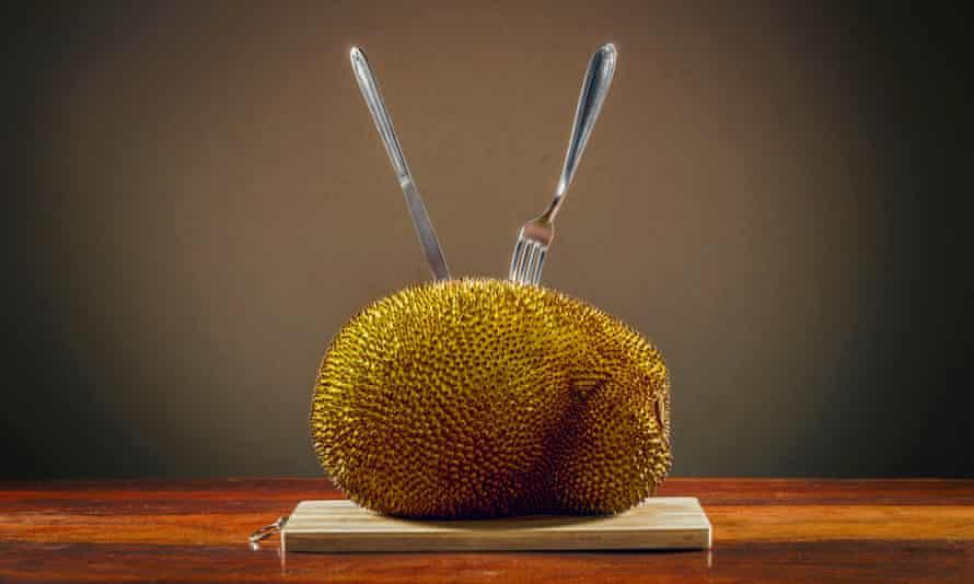 Raw, unopened jackfruit