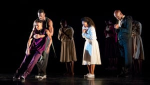 a scene from Rennie Harris's Lazarus, performed by Alvin Ailey American Dance Theater.