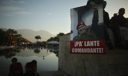 People gathered before the start of Hugo Chávez's funeral in Caracas, Venezuela.