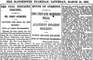 Manchester Guardian, 21 March 1925.