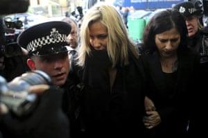 Caroline Flack arriving at court.