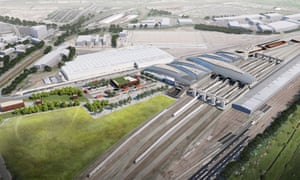 An artist's design of a proposed HS2 terminus at Old Oak Common, north-west London