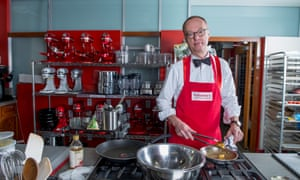 Christopher Kimball at work in America's Test Kitchen.