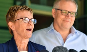 Paralympian Carol Cooke with Scott Morrison