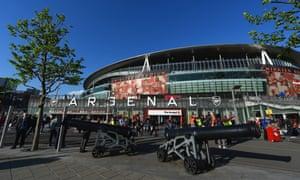 The outside of Arsenal's Emirates Stadium