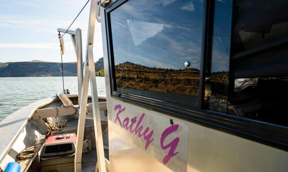 The Ralstons' seven-metre aluminium boat, Kathy G.