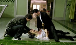 Where the hell is that cat? Shia LaBeouf, Rachel Weisz and Keanu Reeves in Constantine