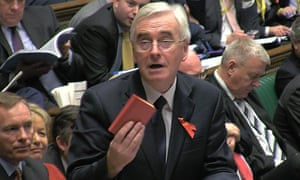 John McDonnell and the original red book prop in 2015