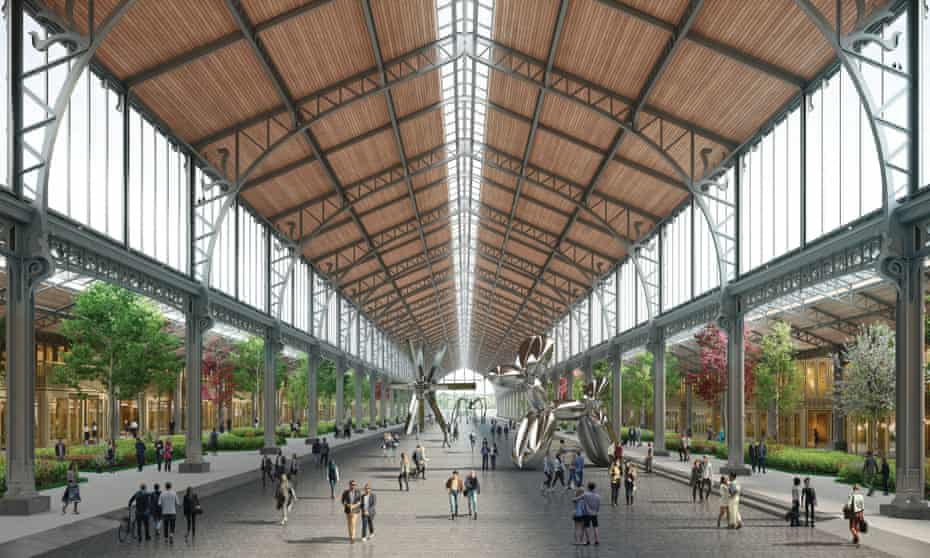 An artist's impression of part of the proposed Gare Maritime regeneration. The competition is part of an initiative to generate interest in the project.