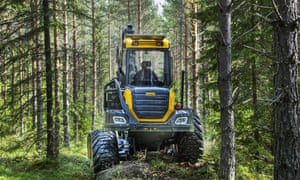 New machines in the logging industry are a 'total revolution'.