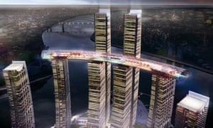 An artist's render of Raffles City Chongqing