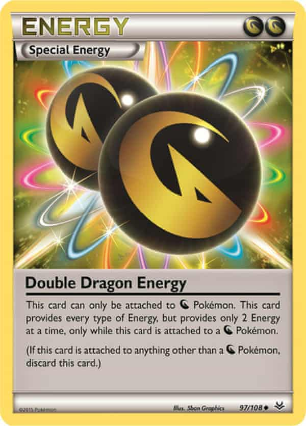 A Pokémon Double Dragon Energy trading card ... how much is it worth?