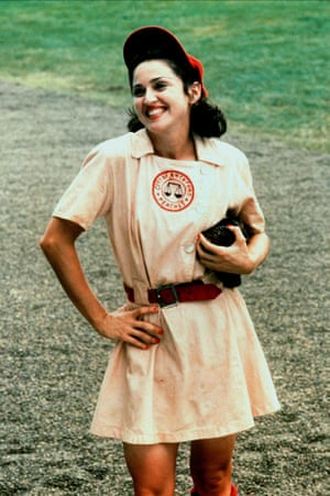 On the set of the 1992 film, A League of Their Own.