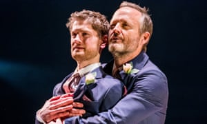 Kyle Soller, left, and John Benjamin Hickey in The Inheritance.