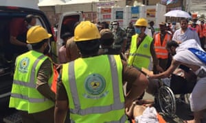 Rescuers at site of hajj stampede