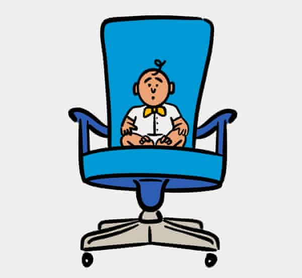 Illustration for G2 feature on bringing kids to job interviews.