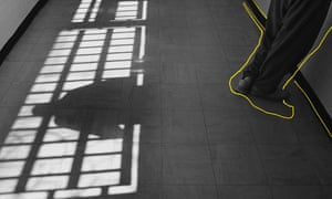 Shadows on youth court floor