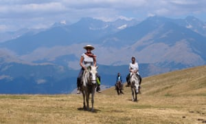 The highest part of the trip, at 3,000 metres, was on horseback.