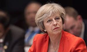 Theresa May at the G20 summit