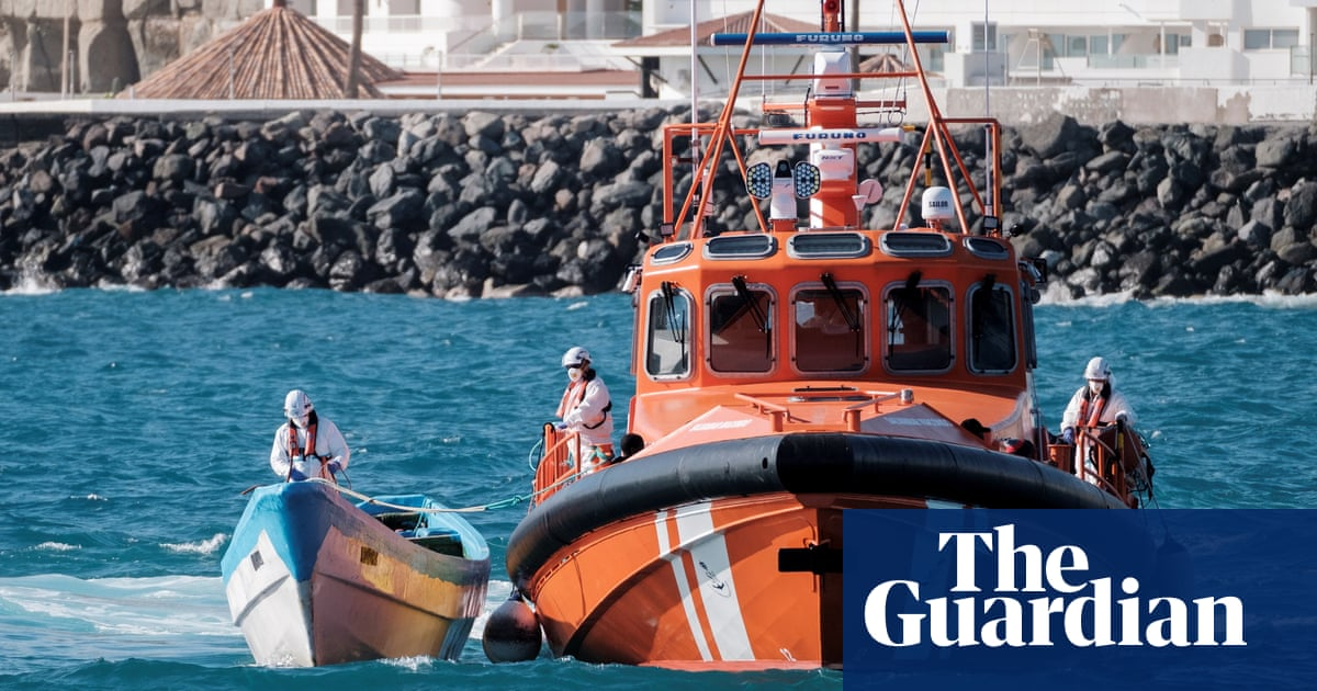 Forty people feared dead as woman rescued from dinghy off Canary Islands