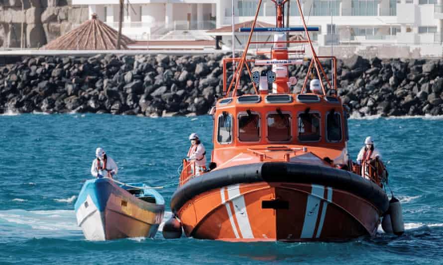 The Spanish coast guard in Gran Canaria, Canary Islands.