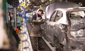 The Nissan production line in Sunderland