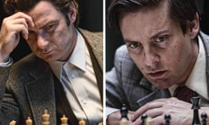 The Pawn Sacrifice, starring Tobey Maguire (right) as Bobby Fischer and Liev Schreiber as Boris Spassky