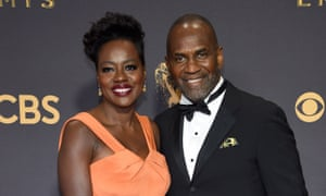 Viola Davis and Julius Tennon at the Emmy awards in Los Angeles last Sunday.