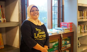 Kiswanti, 52, in her Warabal school in Parung, Indonesia