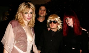 Courtney Love, Astor, JT Leroy, and Speedy in 2003.