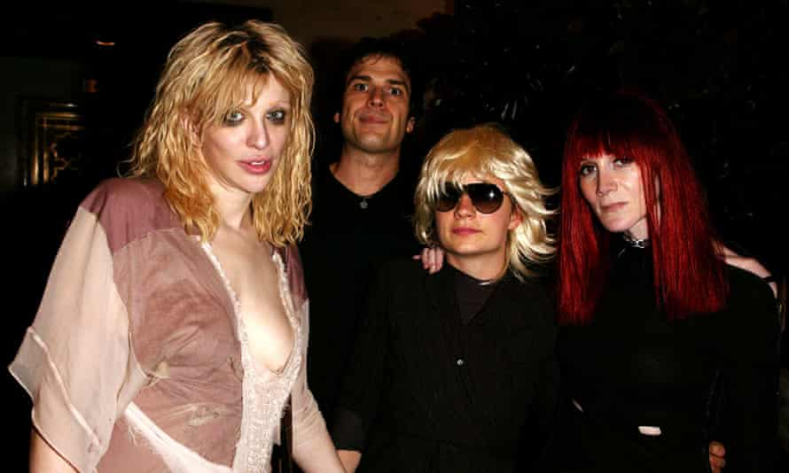 Courtney Love, Astor, JT Leroy, and Speedy in 2003.