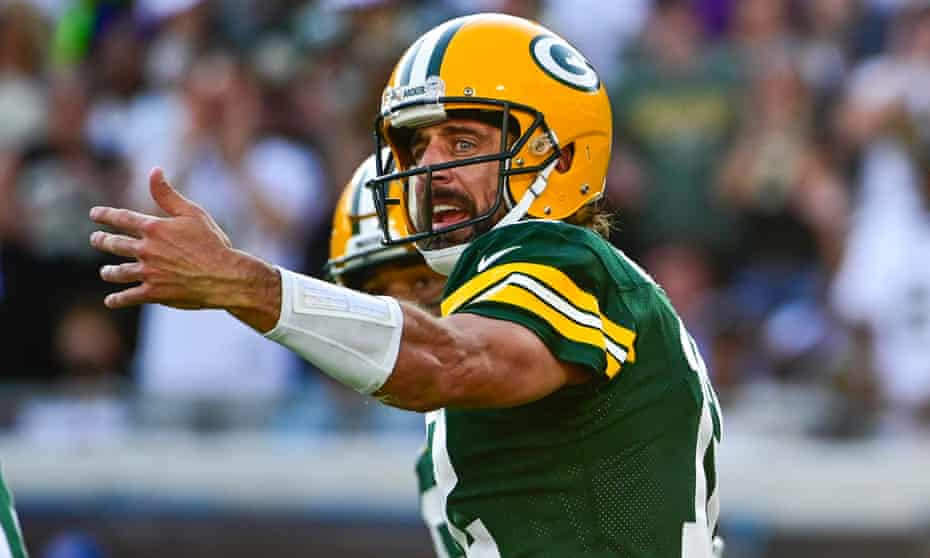 Aaron Rodgers stank in the Packers' capitulation. And the conspiracy  theories started | NFL | The Guardian
