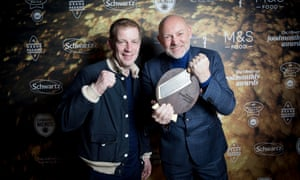 John Pallagi, left, and Lee Simmonds of online butcher Farmison & Co, winners of Best Independent Retailer