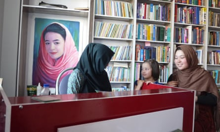 Rahila Rafi's portrait hangs in the library of the Rahila Foundation
