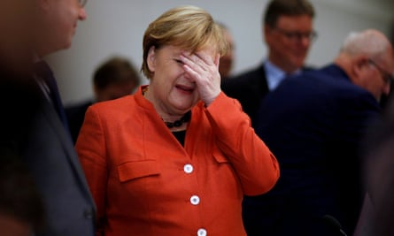 Angela Merkel told reporters on Monday: 'As chancellor, I will do everything to ensure that this country is well managed in the difficult weeks to come.'