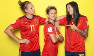 Alexia Putellas (left), Amanda Sampedro (centre) and Jennifer Hermoso will be looking to improve on Spain's performance at the 2015 World Cup, where they finished bottom of their group.