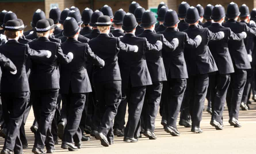 A police passing out ceremony in London. There were 63 dismissals, retirements or resignations after complaints of sexual misconduct against the Metropolitan Police from 2012-18.
