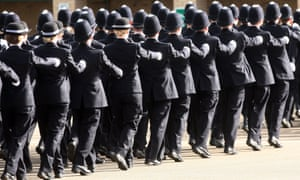 New police officers at the Met police Peel Centre in Hendon, London.