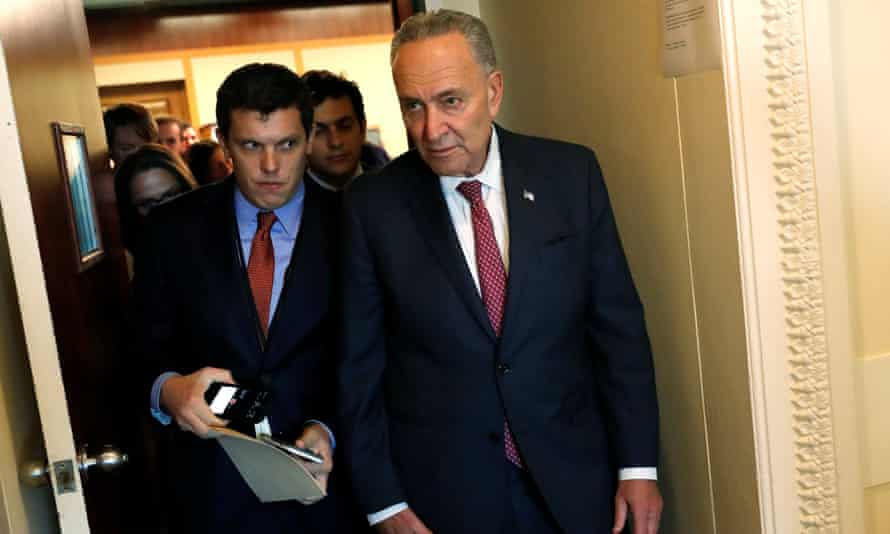 Chuck Schumer at the US Capitol in Washington Tuesday