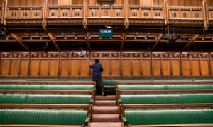 The Commons Chamber, which has 427 seats for 650 MPs.