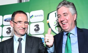 Martin O'Neill (left) and the chief executive John Delaney were all smiles after the November 2013 announcement of the managerial appointment.