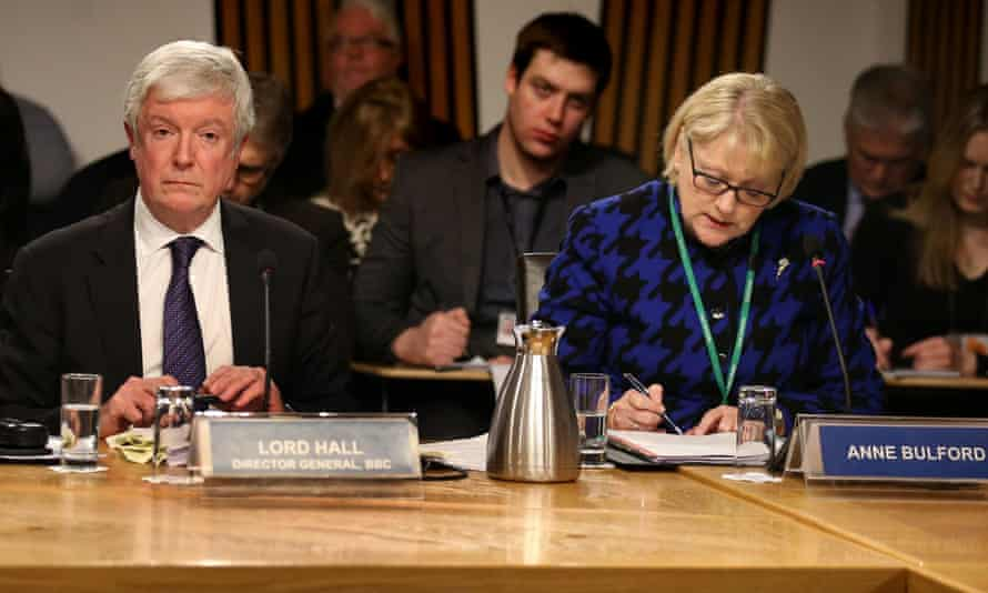 Lord Hall andAnne Bulford, BBC MD Finance and Operations at Holyrood.