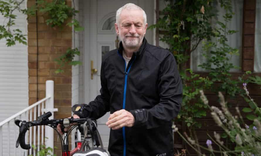Jeremy Corbyn outside his home in London.