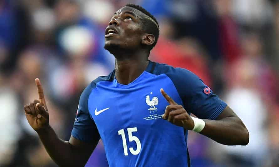 Paul Pogba celebrates after scoring for France against Iceland at Euro 2016, after which he may be returning to a different club with Real Madrid and Manchester United both keen to sign him from Juventus.