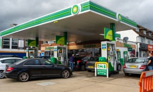 It was busy at the BP petrol station on the Farnham Road at Slough. Unleaded petrol was available but not diesel.