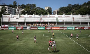 Exeter City take on a Fluminense XI at Laranjeiras stadium in Rio de Janeiro, Brazil, to commemorate the 100th anniversary of Brazil's first international football match, which was against Exeter City.