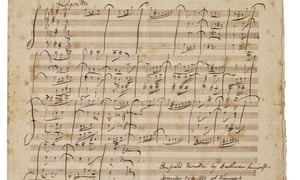 The single-page Allegretto manuscript, a complete but brief work from 1817.